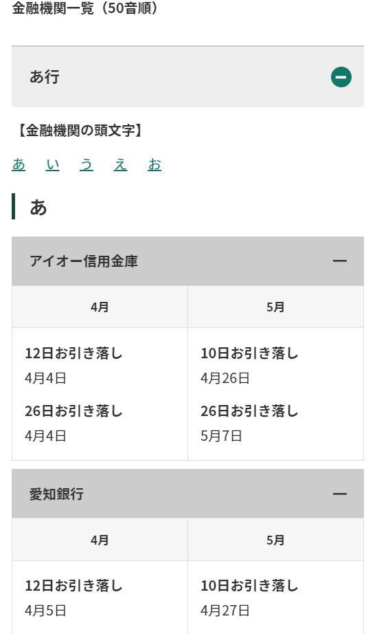 三井住友カード変更受付期間金融機関
